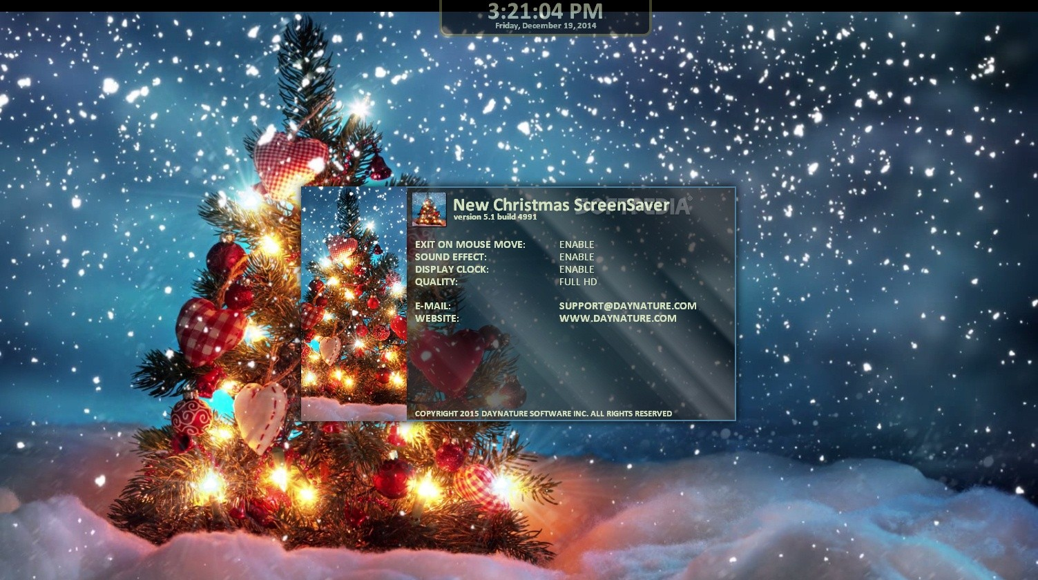 Download New Christmas Screensaver 5 1 Build 4991