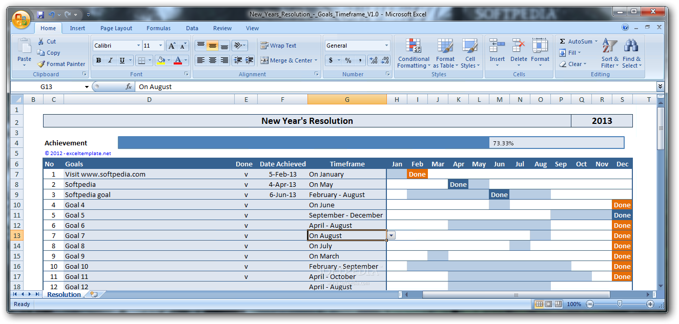 new years resolution new years resolution is an excel template that you can use to
