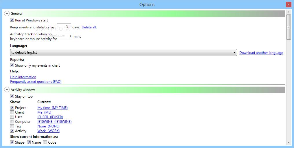 NkTimeTracker screenshot #1