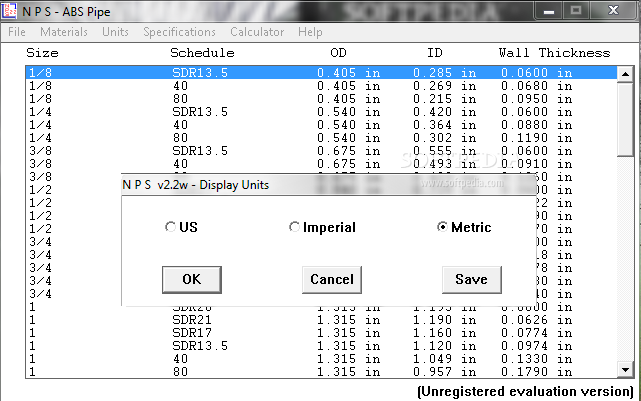 sc 1 st  Softpedia & Download Nominal Pipe Size 2.2