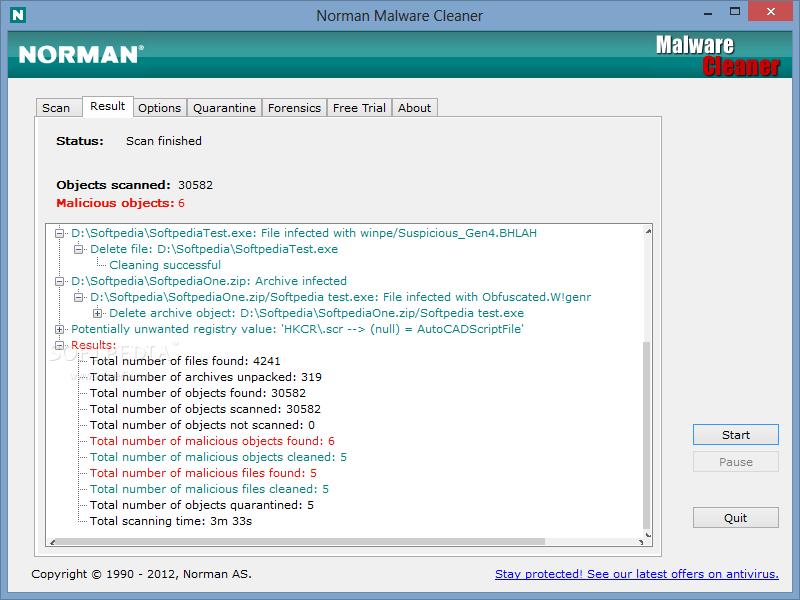 normam malware