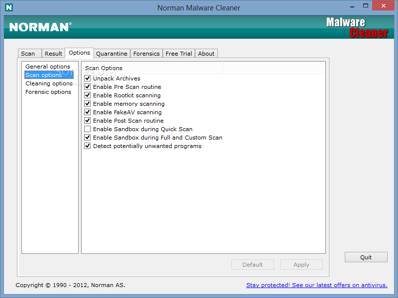 Norman Malware Cleaner screenshot 4 - Norman Malware Cleaner will enable you to view the quarantined items.