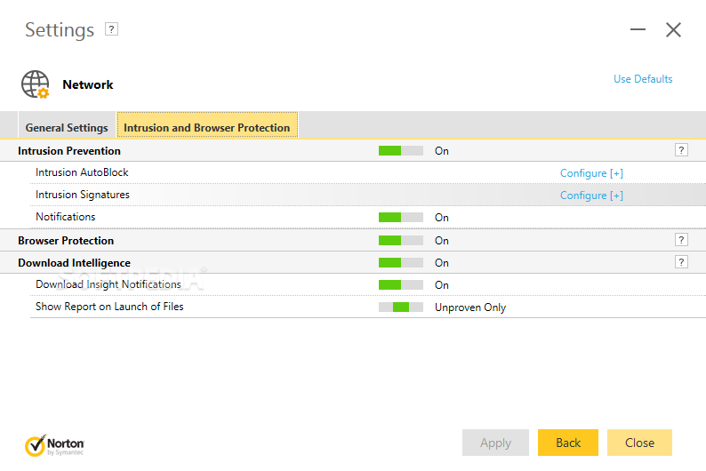 Norton AntiVirus screenshot 2 - The Beta version of Norton AntiVirus allows you to access all the options and perform system scans.