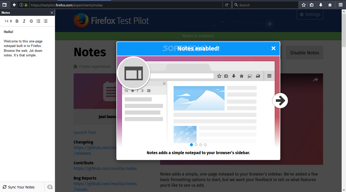 Download Firefox Notes 2 2 0