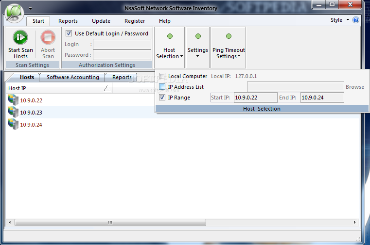 Network Software Screen Shot : Nsasoft network software inventory download