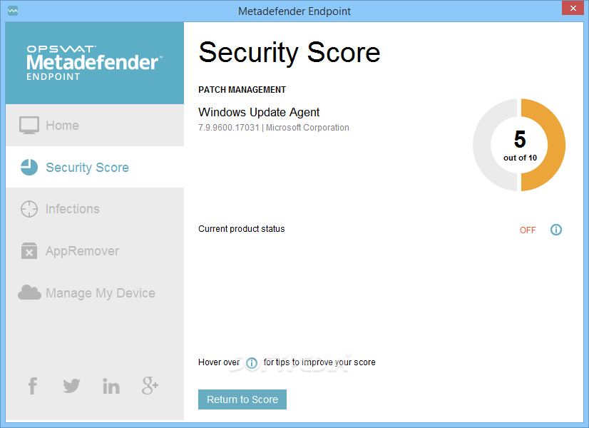 Endpoint Security Management For Win Screen shot