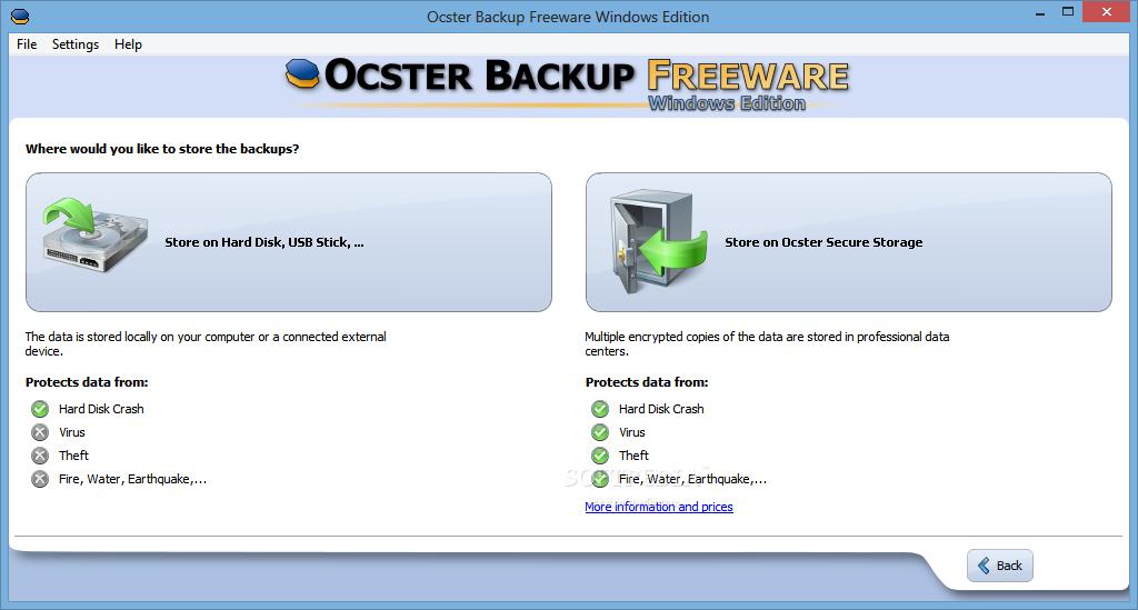 ocster backup free download