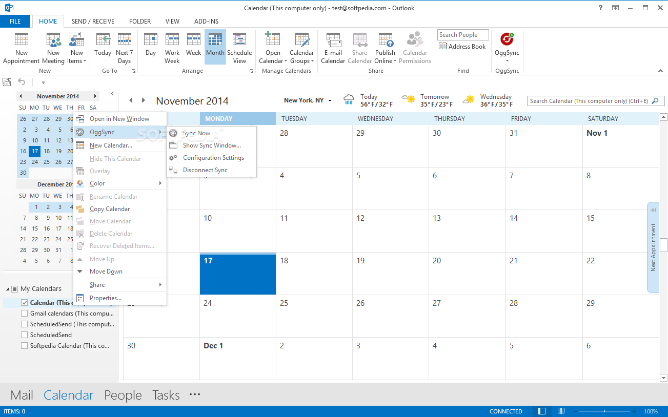 Outlook Calendar Organization : Oggsync download