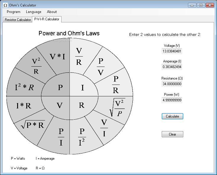 Download Ohms Calculator 0001