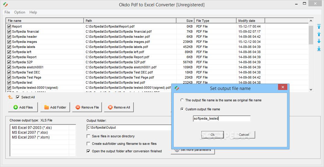 Download Okdo Pdf to Excel Converter 5 6