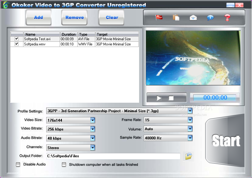 Okoker video to 3gp converter 5.4 download