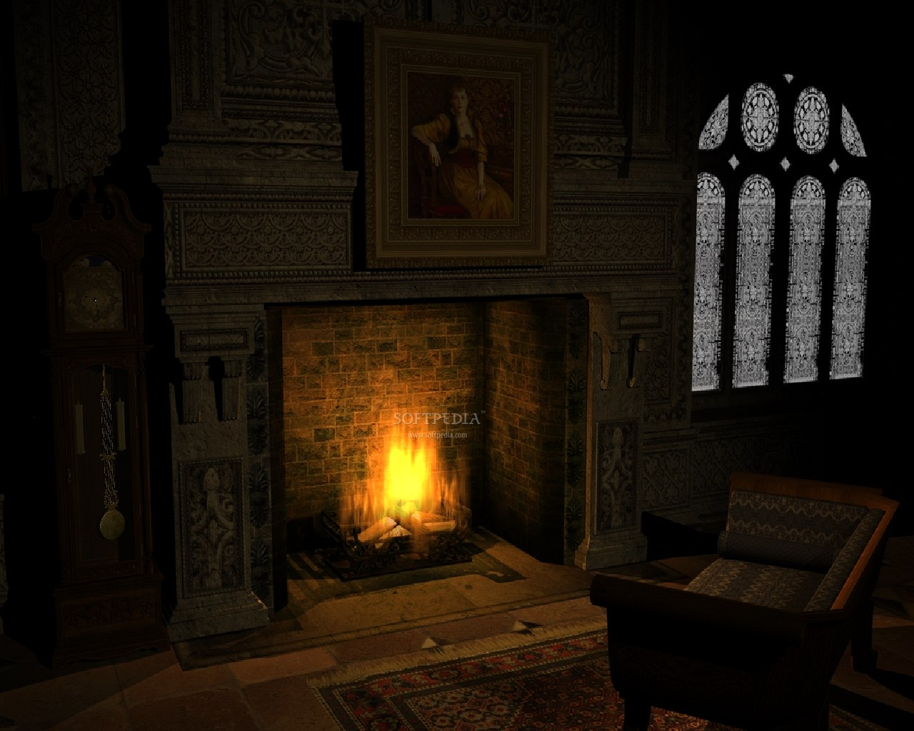 Screenshot 1 of Old Fireplace - Animated Wallpaper