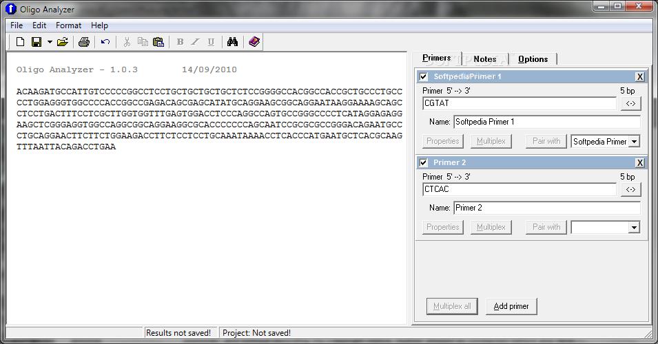 Download Oligo Analyzer 1 0 3