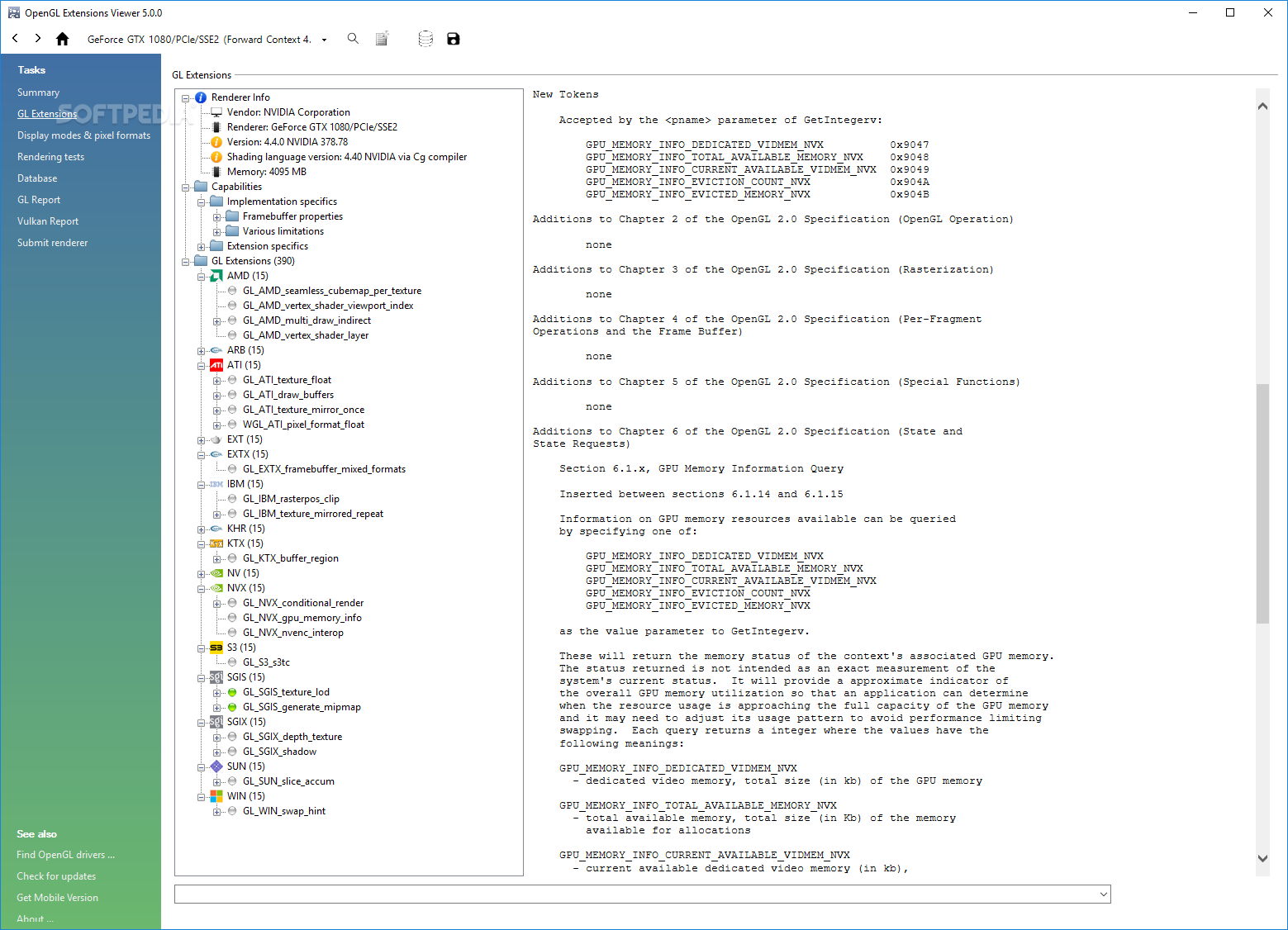 Download opengl extension viewer 5. 1. 4 build 52. 0. 0. 0.