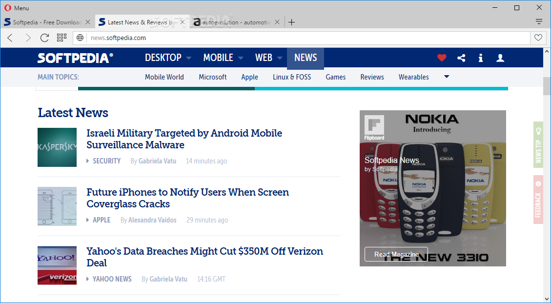 Opera Web Browser screenshot 1