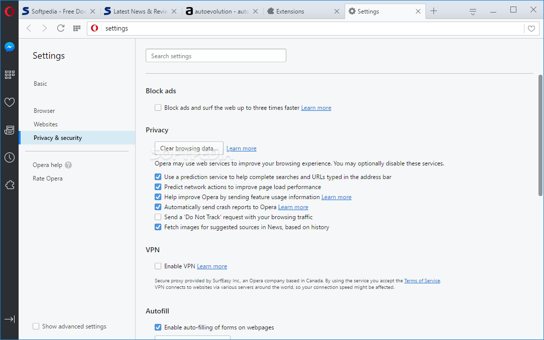 Opera Web Browser screenshot 18