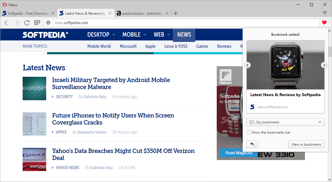 Opera Web Browser screenshot 21