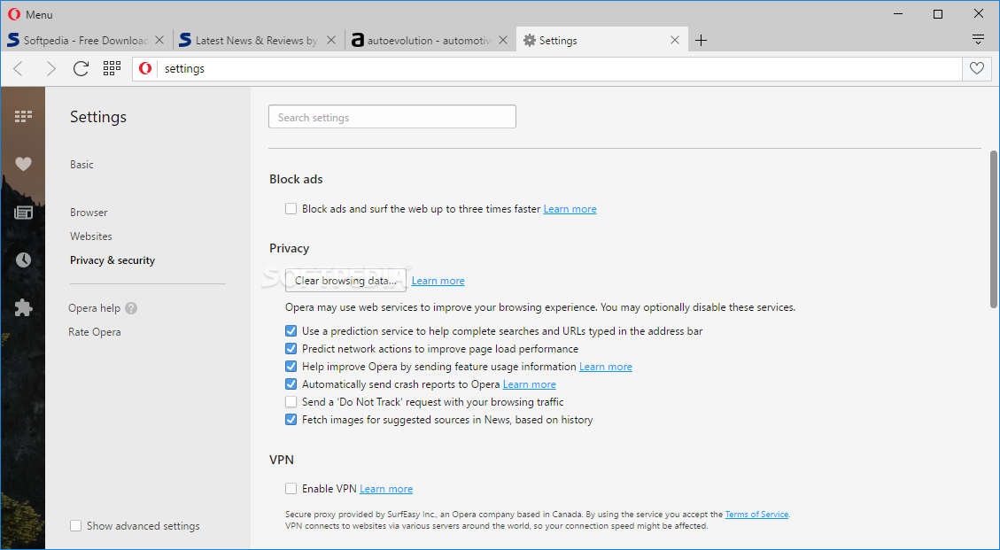 Opera Web Browser screenshot 28