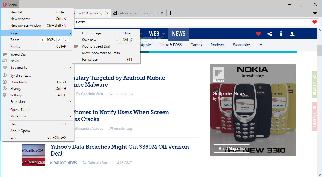 Opera Web Browser screenshot 3