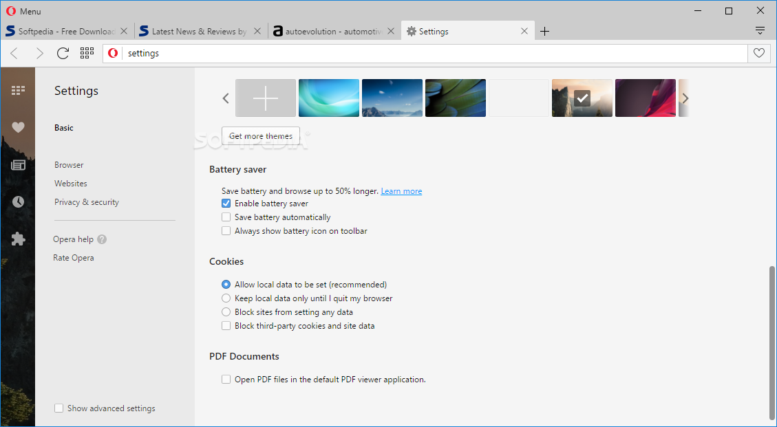 Opera Web Browser screenshot 5