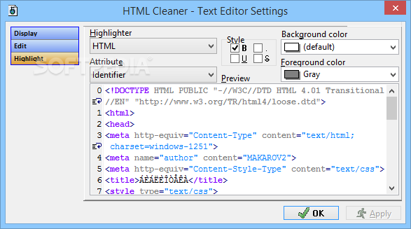 HTML Cleaner Download