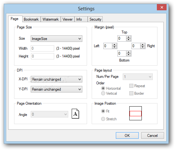 OpooSoft JPEG To PDF Converter screenshot 3 - OpooSoft JPEG To PDF Converter will enable you to set the page configuration from this window of the application