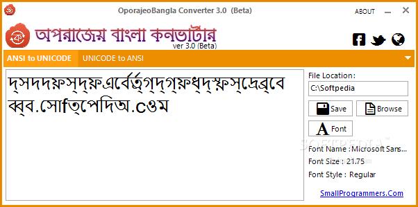Download Aparajeyo Bangla Converter 3 1 Pre-release