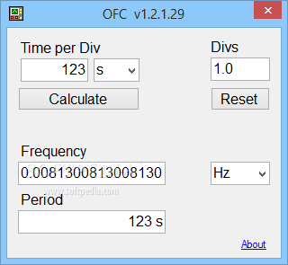 Calctool: frequency & period calculator.