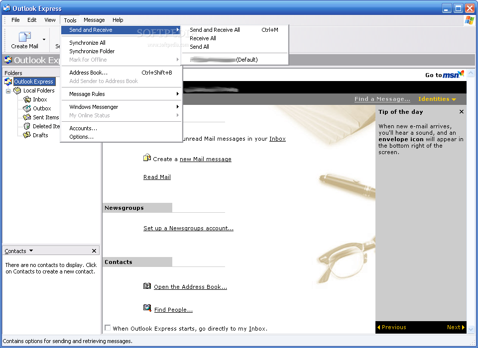 Outlook Express screenshot 2