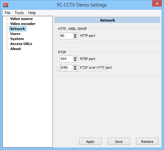 cctv encoder settings