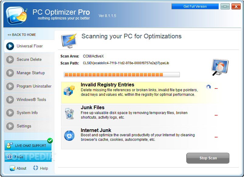 Download PC Optimizer Pro 8 1 1 5