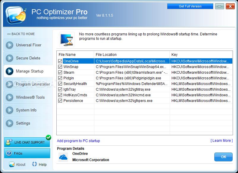 Download PC Optimizer Pro 8 1 1 5