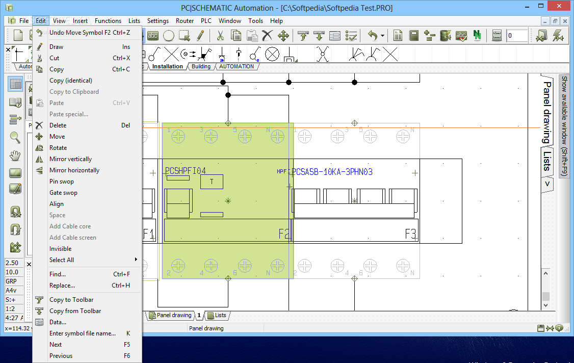 Download Pc Schematic Automation 160 Drawing Tool That S Free For Users To Design And Draw Circuit Accessing The Edit Menu User Can Copy An Object