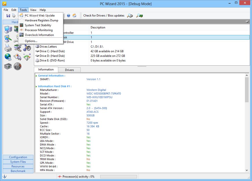 PC WIZARD 2008 64 bit