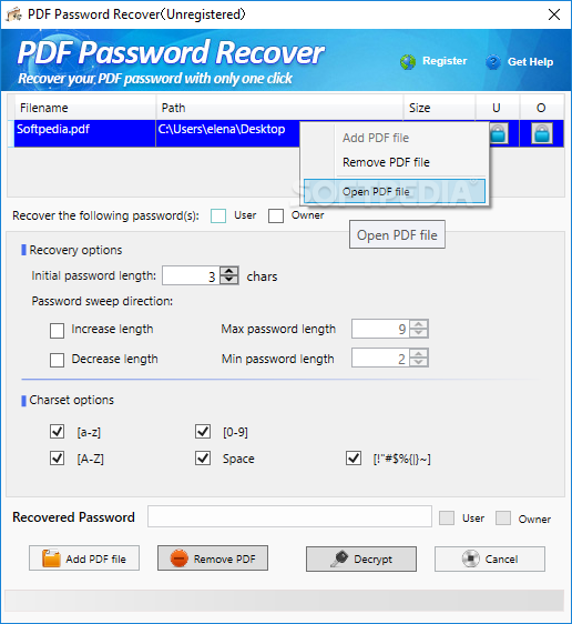 PDF Password Recover Download