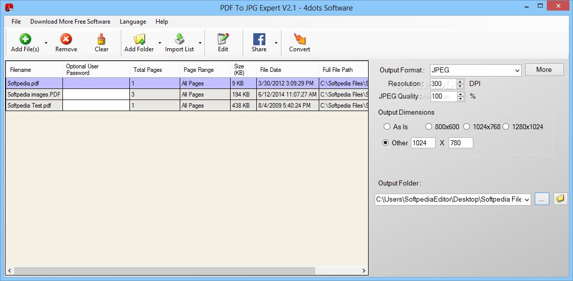 Download PDF To JPG Expert 2 5