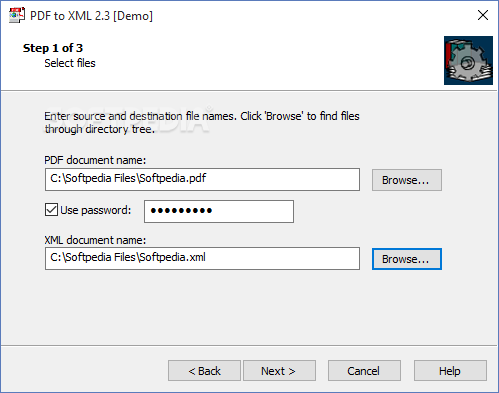 how to create xml file from pdf