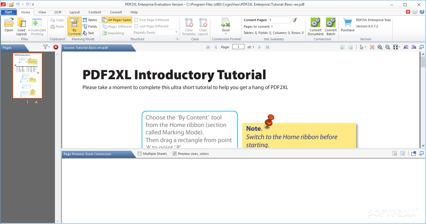 PDF2XL Enterprise: Convert PDF to Excel screenshot 1 - With PDF2XL Enterprise: Convert PDF to Excel you have the possibility to choose your PDF files and convert them to Excel