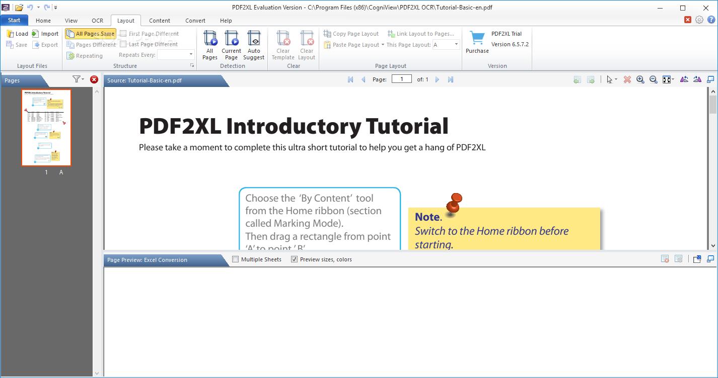 Download PDF2XL Basic 6 5 7 2