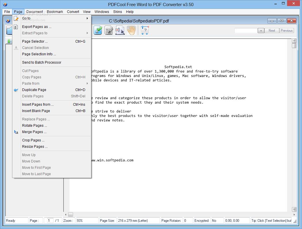 word to pdf converter free download