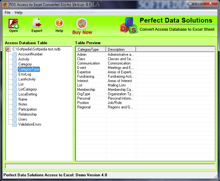 Download Pds Access To Excel Converter 4 0
