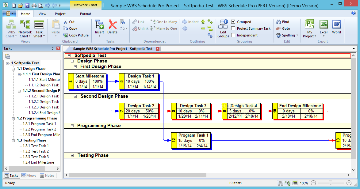 Wbs Schedule Pro Pert Version Enables
