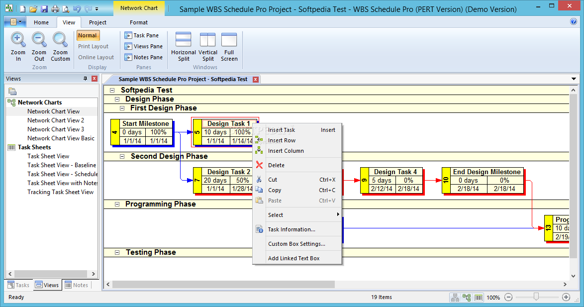 Download wbs schedule pro pert version 510024 ccuart Image collections