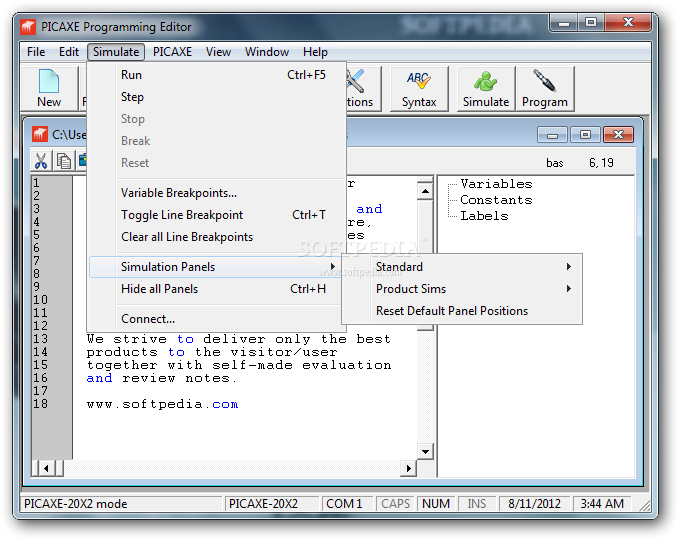 picaxe programming editor gratuit
