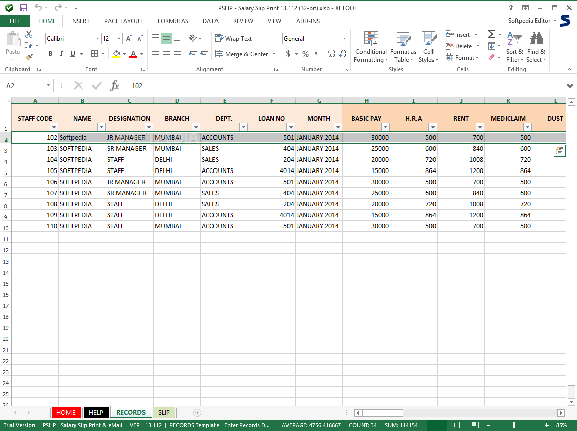 Salary Calculation Template In Excel  HR Letter Formats