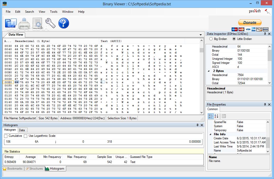 online binary file reader