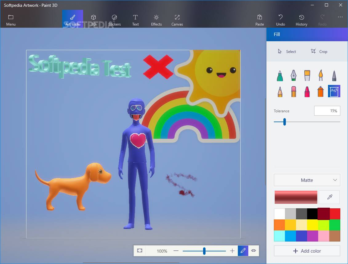 Paint 3d the application allows you to create simple 3d artwork