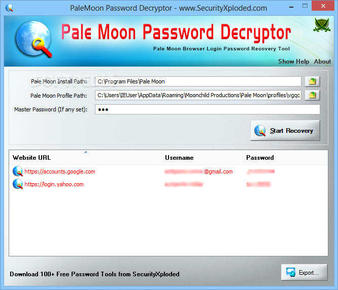 Descargar browser password decryptor