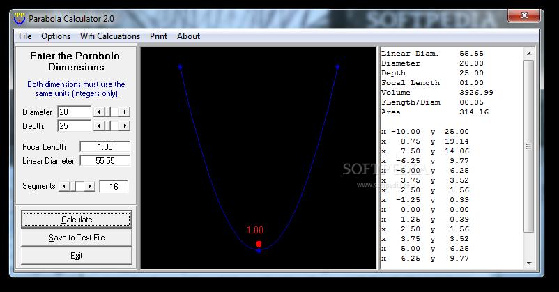 Download Parabola Calculator 2 0