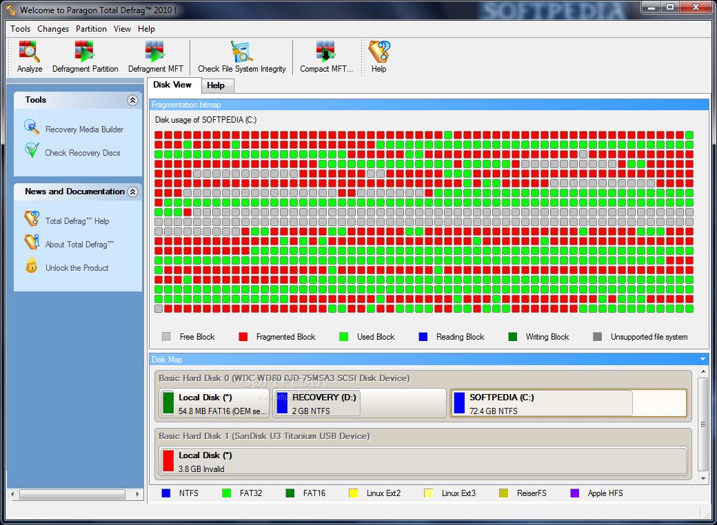 Download Paragon Total Defrag 2010 Build 8713